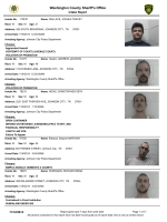 Weekly Arrest Report - Washington County Sheriffs Office