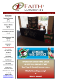 Latest Newsletter - Faith Community Church