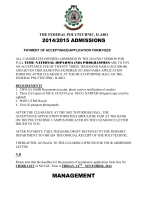 ND [Full-Time] Third List 2015 - The Federal Polytechnic Ilaro