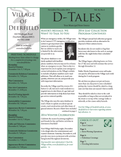 Reading - The Village of Deerfield, Illinois