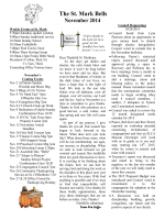 Newsletter - St. Mark Evangelical Lutheran Church