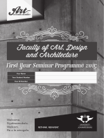First Year Seminar Programme 2015 - University of Johannesburg