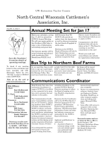 NCWCA 4 Qtr Newsletter 2014 - North Central Wisconsin Cattlemen