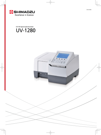 C101-E130 UV-1280 - Shimadzu Scientific Instruments