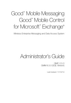Administrators Guide - Good Technology