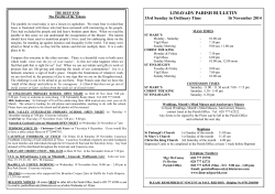LIMAVADY PARISH BULLETIN - St Marys Limavady