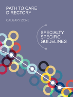 SPECIALTY SPECIFIC GUIDELINES PATH TO CARE DIRECTORY