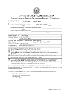 OFFICE OF COURT ADMINISTRATION - Travis County