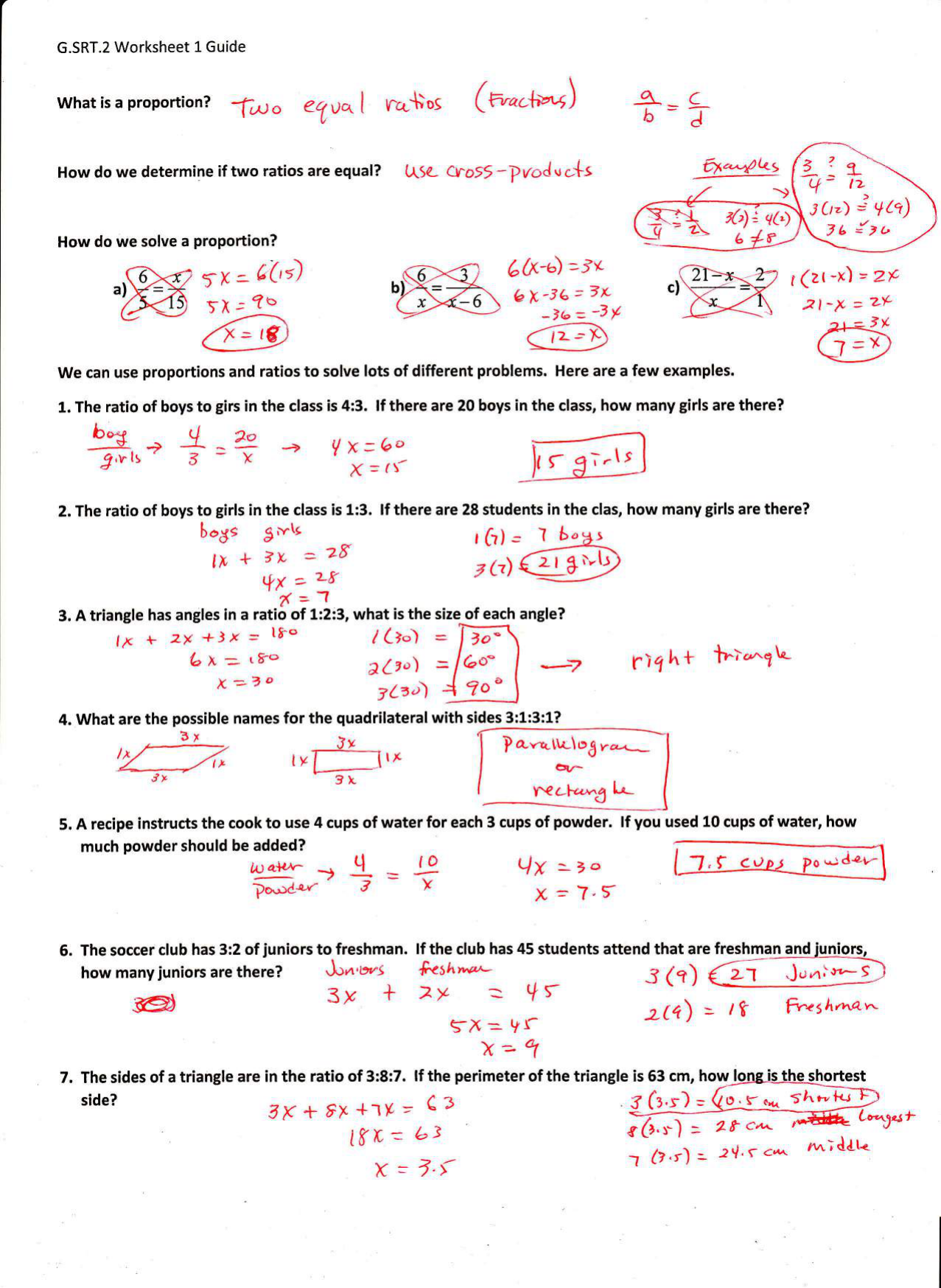 G.SRT.2 Worksheet 1 - TeacherWeb