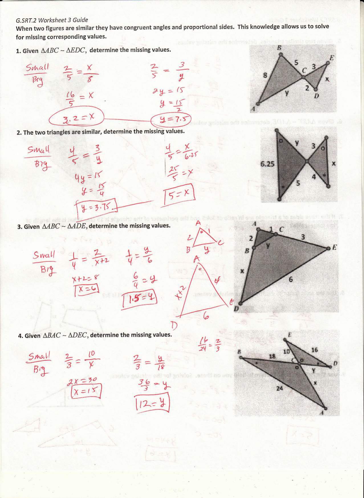 G.SRT.2 Worksheet 3 - TeacherWeb