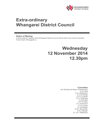 12 November 2014 - Whangarei District Council