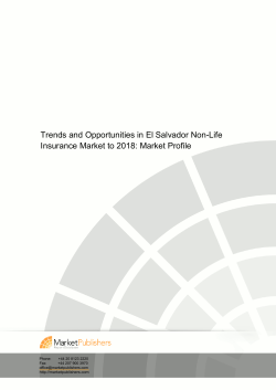 Trends and Opportunities in El Salvador Non-Life Insurance Market