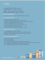 Release Notes: Junos® OS Release 14.2R1 for - Juniper Networks
