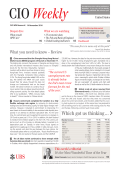 Latest CIO Weekly - UBS