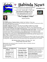 """The Presidents Notes"" - Babinda Information Centre"