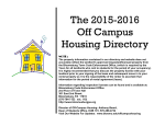 Fall 2015-Spring 2016 Housing Directory - Bloomsburg University