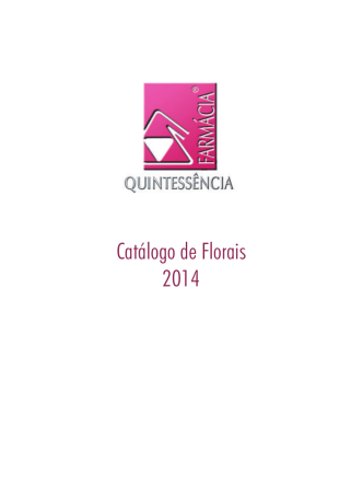 Catálogo de Florais 2014