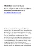 Fifa 15 Coin Generator Guide