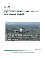 OpusFSI Flight Simulator Interface for FSX & Prepar3D Getting Started