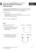 using the DStv WiFi Connector (manual setup)