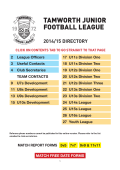 Team Directory 2014/15 - Tamworth Junior Football League
