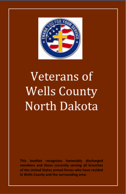 Veterans of Wells County North Dakota - Herald-Press