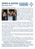 November News and Notes - Bradford Cathedral