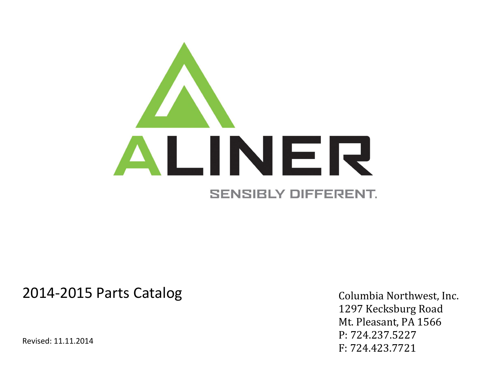 Download our 2014-2015 Parts Catalog - Aliner
