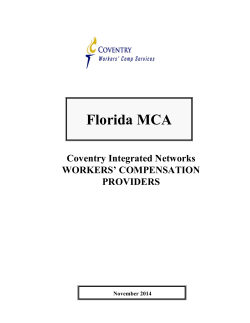 Florida MCA - Coventry Workers Comp Services