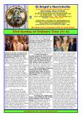 Weekend of 15th and 16th November - St. Brigids Parish