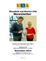 November Newsletter - Mansfield U3A