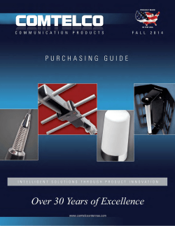 Purchasing Guide - Comtelco Antennas