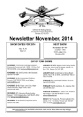 Newsletter November, 2014 - Historical Arms Collectors of BC