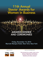 official program book - the Stevie Awards