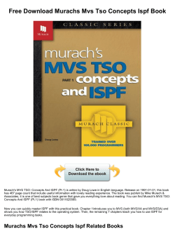 Free Download Murachs Mvs Tso Concepts Ispf - bookfeeder.com