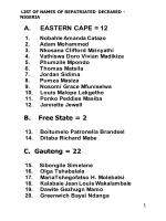 List of names of repatriated deceased from Nigeria