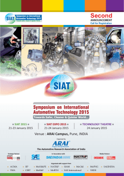 Second - SIAT - The Automotive Research Association of India