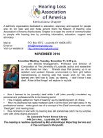 Newsletter - Hearinglossky.org