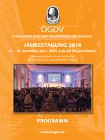 Hauptprogramm - ÖGDV