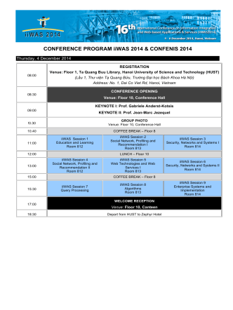 Conference Program - International Organization for Information
