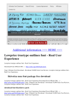 Lowprice truetype outlines font - Real User Experience