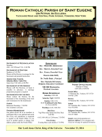 Weekly Bulletin - Parish of Saint Eugene