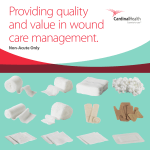 Traditional Wound Care brochure 7.3 Mb - PDF - Cardinal Health