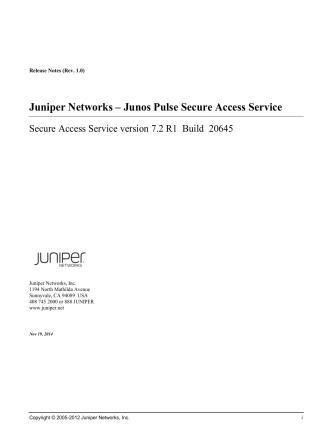 7.2R1 Release Notes - Juniper Networks