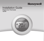 Y87RF Installation Guide - Honeywell