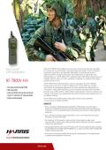 RF-7800V-HH Handheld VHF Radio Datasheet - Harris RF
