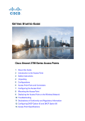 Getting Started Guide: Cisco Aironet 2700 Series Access Points