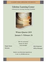 Winter Quarter 2015 Class Schedule - Lifetime Learning Center