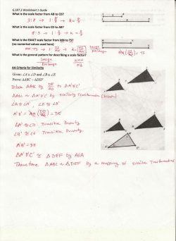 G.SRT.3 Worksheet 1 - TeacherWeb