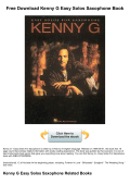 Free Download Kenny G Easy Solos Saxophone - bookfeeder.com